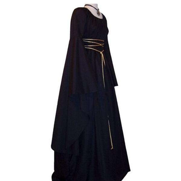 Wish | Women Medieval Dress Renaissance Vintage Style Gothic Dress ...