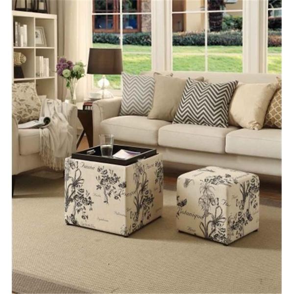 Awesome Design4Comfort 163030Fbt Park Avenue Ottoman Botanical Botanica Print Unemploymentrelief Wooden Chair Designs For Living Room Unemploymentrelieforg