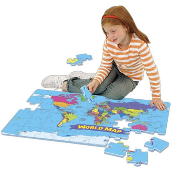 EDUCATIONAL INSIGHTS EI-4810 WORLD FOAM MAP PUZZLE
