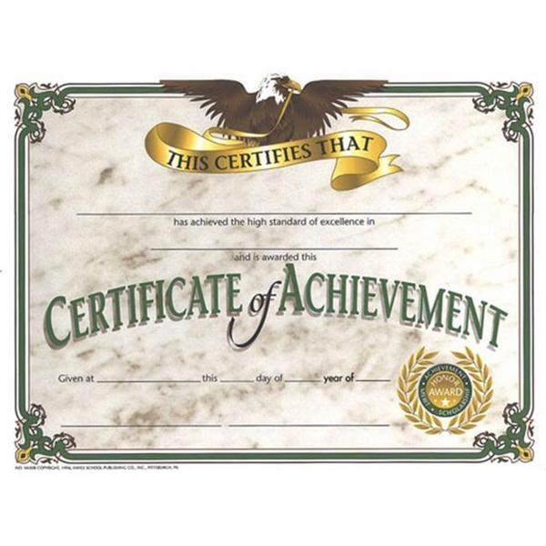 Wish Hayes School Publishing H Va508 Certificates Of Achievement