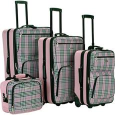 pink, luggageset, plaid, Fox