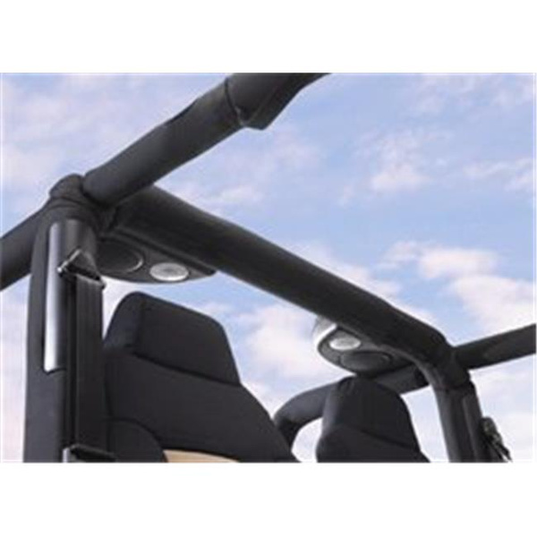 Black Denim Pair RAMPAGE PRODUCTS 769115 Roll Bar Pad and Cover Kit for Windshield Attachment Braces 1987-1995 Wrangler YJ