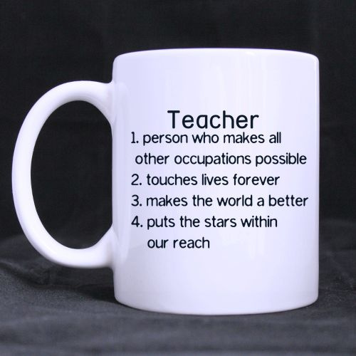 ceramic coffee cup teachers gifts office gifts inspirational