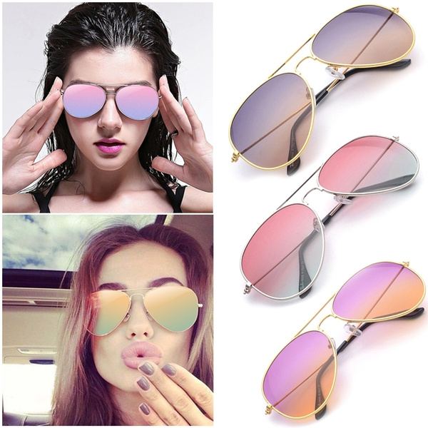 Picture of Fashion Women Neutral Colorful Gradient Sunglasses Uv Protection Colorful Ocean Film Goggles Outdoor Leisure Polarized Glasses