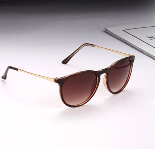 Picture of Fashion Retro Women's Round Sunglasses Metal Frame Leg Spectacles Eyeglasses Cool