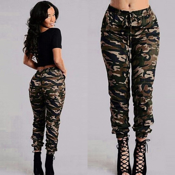 Army Pants Casual Women Pantalons Cargo Outdoor Military Longs Camo Camouflage m8yv0NwPOn