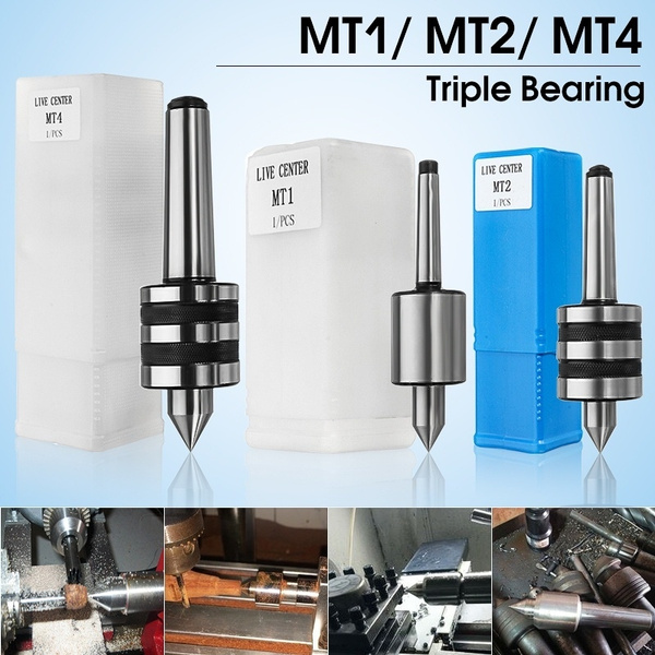 NEW MT1 Live Center Morse Taper 1MT Triple Bearing Lathe Medium Duty CNC