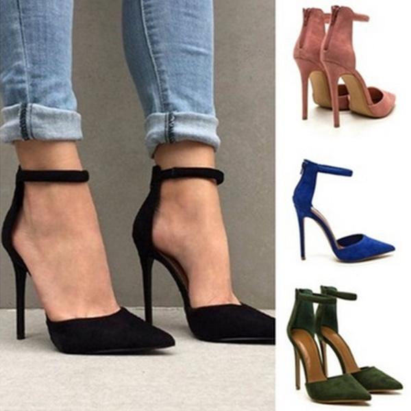 Picture of Women Stiletto High Heeled Sandals Ladies Fashion Office Stiletto Heels