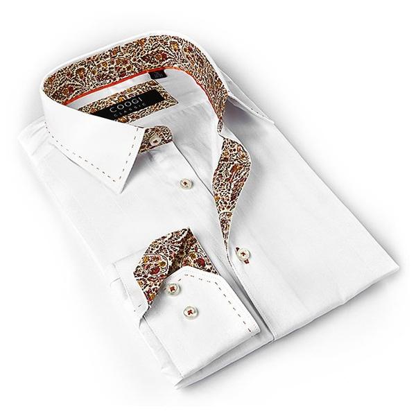 Coogi Luxe Men\'s White Button-down Dress Shirt