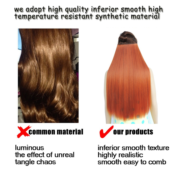 Wish Hair Extension False Shinion Fast Mega Aplique De Cabelo