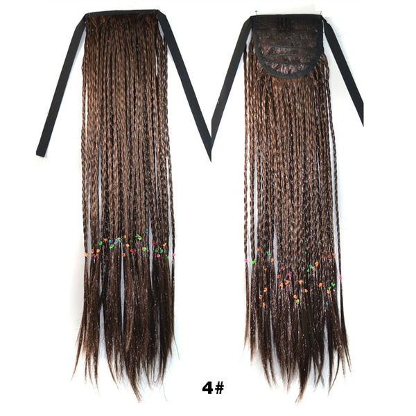 Multicolor Hair Color Ponytail Extension Curly Hair Extensions Wigs