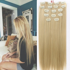 7pcsclipinhairextension, Hair Extensions, Hair Extensions & Wigs, straightsynthetichair
