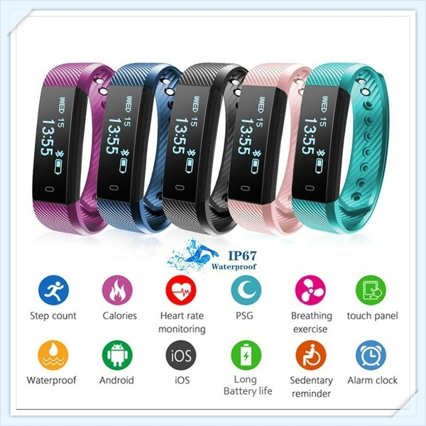 Picture of 2017 Original Stock Bluetooth Smartwatch Smart Watch D21 Wristband Bracelet Band Heart Rate Smartband Activity Tracker Fitness For Ios Android Colorblack White.pink.purple