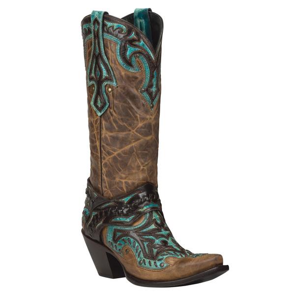 2f9878389bf Black Star EUREKA (Brown/Turquoise) Women's Cowboy Boots