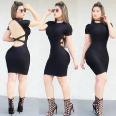 Mini, Sheath Dress, Shorts, Sleeve
