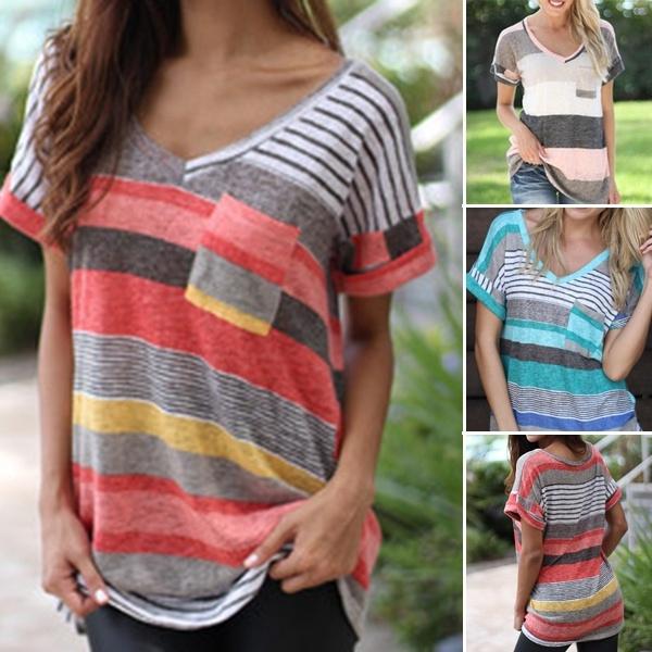 blouse, Summer, short sleeves, Fashion