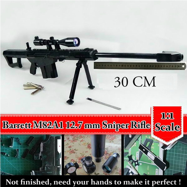 1:1 Scale Matt Barrett M82A1 12 7 mm Sniper Rifle 3D Paper Model Cosplay  Kits Kid Adults' Gun Weapons Paper Models Gun Toys