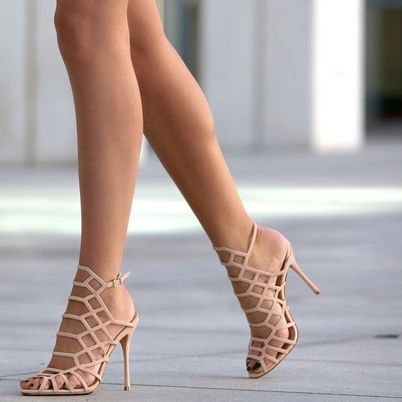 Picture of New Women Simple Khaki High Heels Pointed Shoes