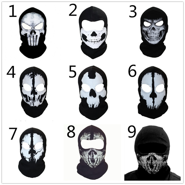 520e33cd9c969 Spring Autumn Winter Punisher Mask Balaclava Beanie Mask Men Ghost ...