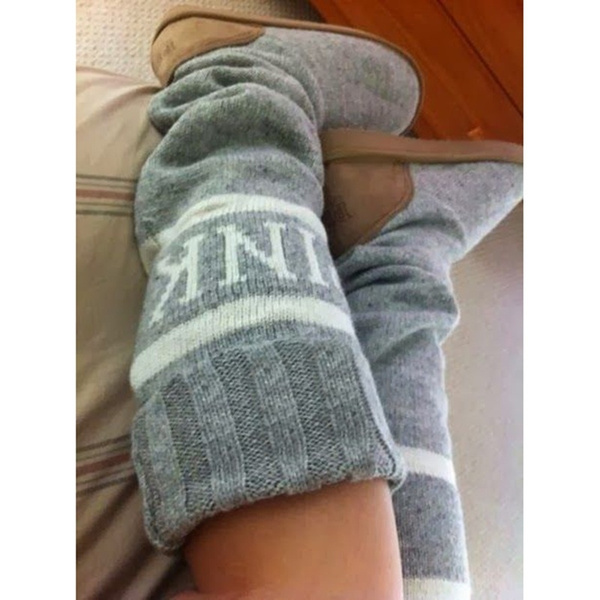 Picture of Women Winter Outwear Knitted Warm Boots Fashion Causal Shoes