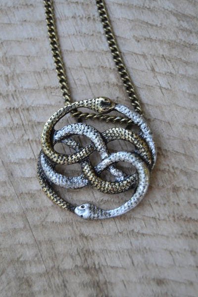Wish auryn necklace infinite snake necklace snake jewelry snake wish auryn necklace infinite snake necklace snake jewelry snake knot necklace ouroboros necklace auryn pendant neverending story gift mozeypictures Choice Image