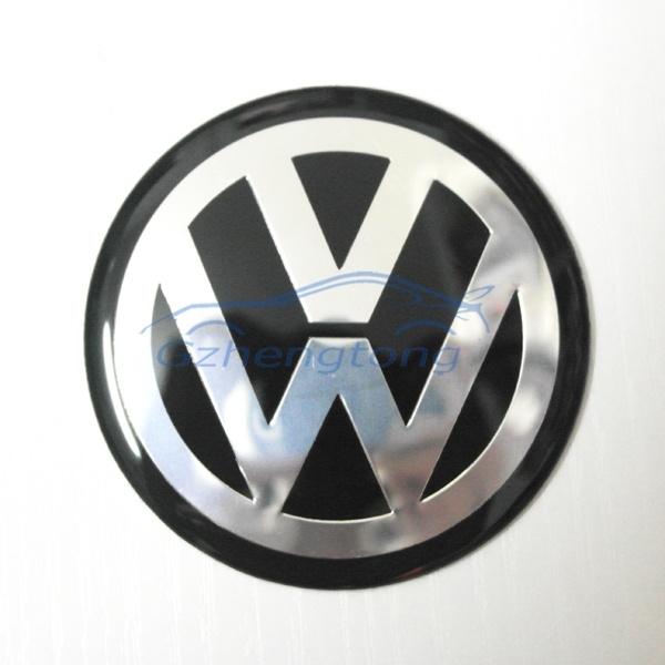 60mm Vw Wheel Rims Center Caps Cover Decal Sticker Logo Sticker Car Modificated Accessories