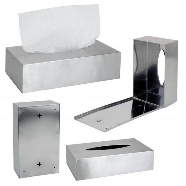 Bath White Metal Steel Kleenex Dispenser Tissue Box Cover Holder