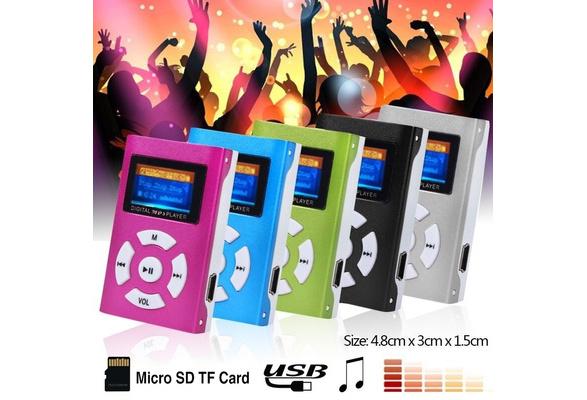 Unique USB Mini MP3 Player LCD Screen Support 32GB Micro SD TF Card
