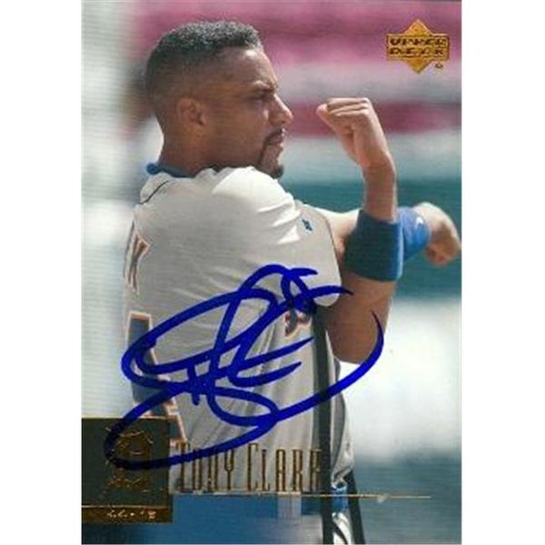 Autograph Warehouse 88861 Tony Clark Autographed Baseball Card Detroit Tigers 2000 Upper Deck No 124