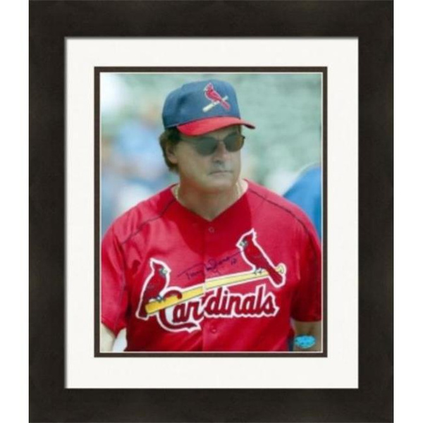 Autograph 224057 St Louis Cardinals Image No 1 Matted Framed Tony Larussa Autographed 8 X 10 In Photo Wish
