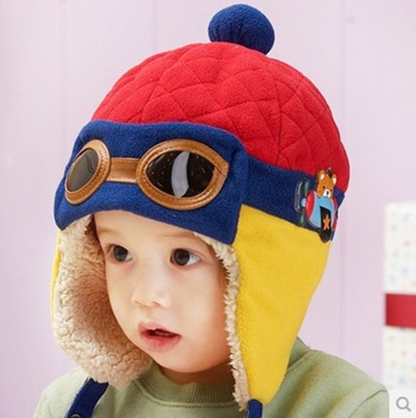 Toddlers Cool Baby Boy Girl Kids Infant Winter Pilot Warm Cap Beanie Earflap Hat