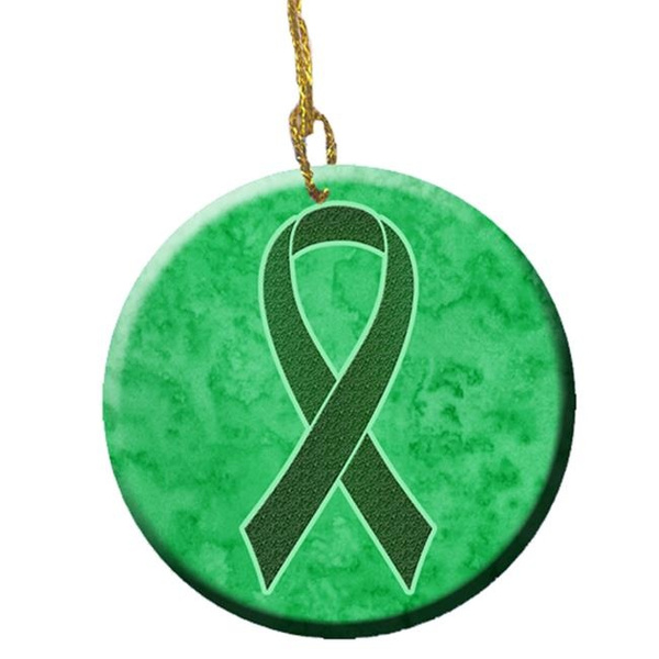 Wish Carolines Treasures An1221co1 Emerald Green Ribbon For Liver