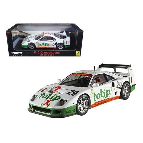 Hot wheels P9921 Ferrari F40 Competizione Lemans 1994 No.29 Totip 1,18  Diecast Model Car Elite Edition