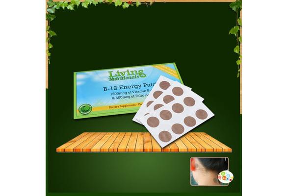 5 Packs Vitamin B-12 Energy Patch Health Vitamin Sticker Better Living Acid