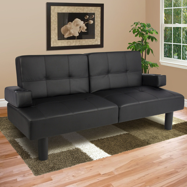 Fold Down Futon Sofa Bed Couch Sleeper