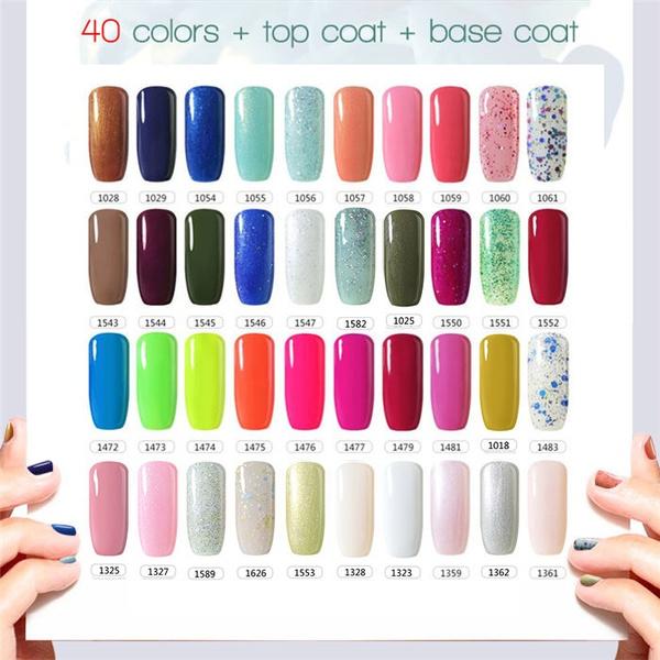 Wish Manicure Diy 40 Colors Base Top Coat Gel Multicolor Uv Gel