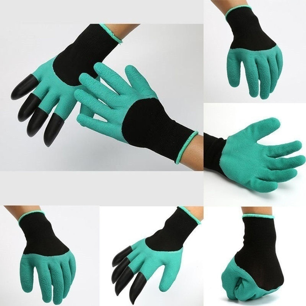 4 ABS Plastic Claws Gardening Gloves Digging Planting Garden Gloves