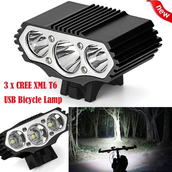 R T6 LED Cycling Bike Bicycle Head Light Flashlight With 3 Modes Torch I
