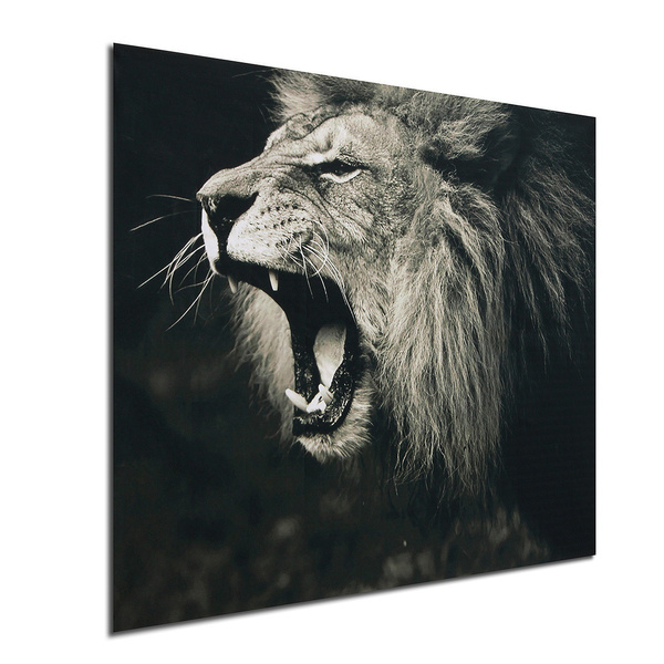 Wish Unframed Lion Animal Painting Silk Cloth Poster Modern Art Picture Wall Decoration Home Decor