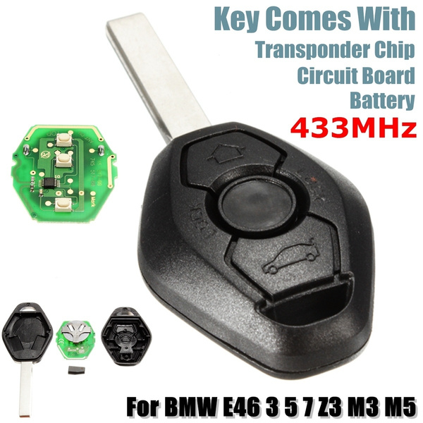 433mhz Remote Key Fob Keyless Transponder Chip For Bmw E46 E39 357