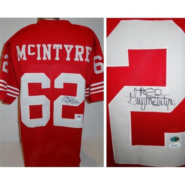 save off 5dd43 3e6d9 Real Deal Memorabilia GMcIntyreJ Guy McIntyre Signed - Autographed San  Francisco 49ers Custom Jersey with JSA Witnessed Authenticity - 2x Super  Bowl ...