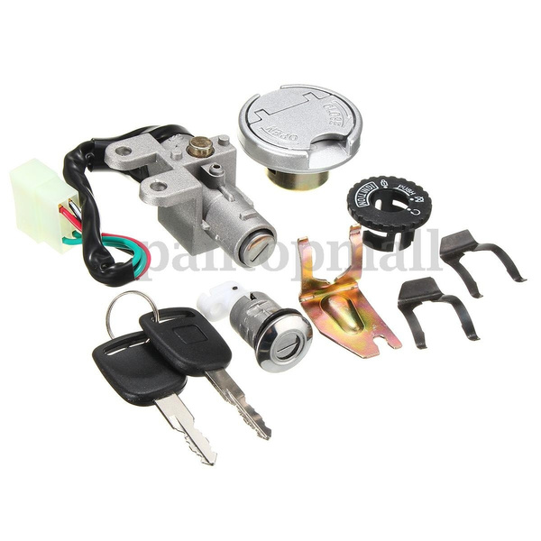 Ignition Lock Switch Fuel Tank Cap Key Set For GY6 50-150CC Scooter Moped  Bike
