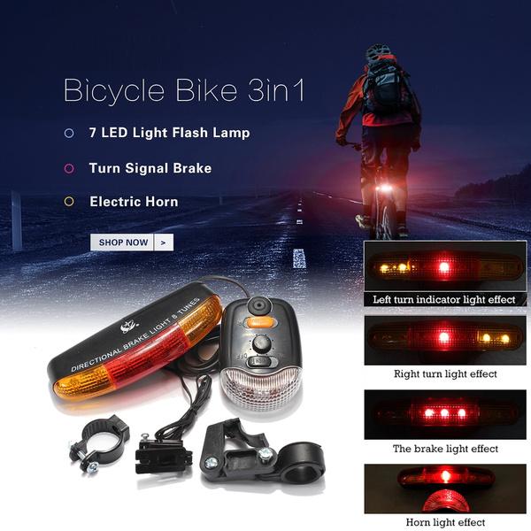 Bicycle Taillight//Night Cycling Turn Signal Brake Tail Lamp Electronic LED Lamp