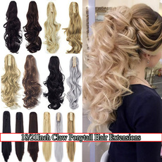 clawclipinponytailhairextension, ponytailextension, pony, heatresistantfiber