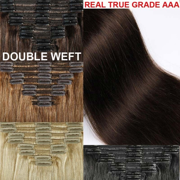 Wish Extra Thick Clip In Remy Human Hair Extensions Full Head