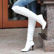 Knee High Boots, Plus Size, Leather Boots, Womens Shoes
