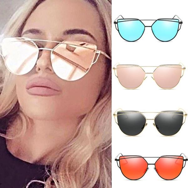 0fc39c82fe5537 Fashion Cat Eye Sunglasses New Women Brand Designer Fashion Twin ...