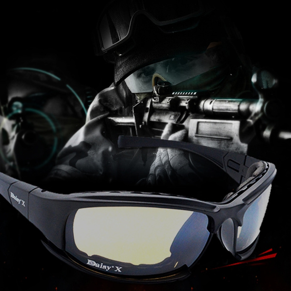 b9986dc914 DAISY X7 Goggles 4LS Men Military Polarized Sunglasses Bullet-proof Airsoft  Shooting Gafas Smoke Lens Motorcycle Cycling Goggles