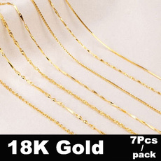 yellow gold, Chain Necklace, 18k gold, Genuine