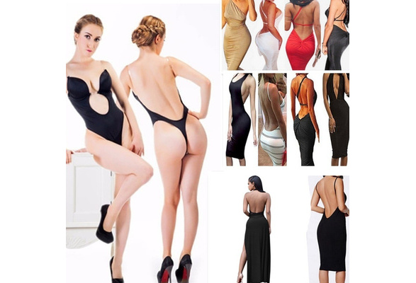 New Lady Deep V Underwear Right Angle Seamless U-shaped Wedding Party Dress Underwear Suit Women Body Sculpting Clothing